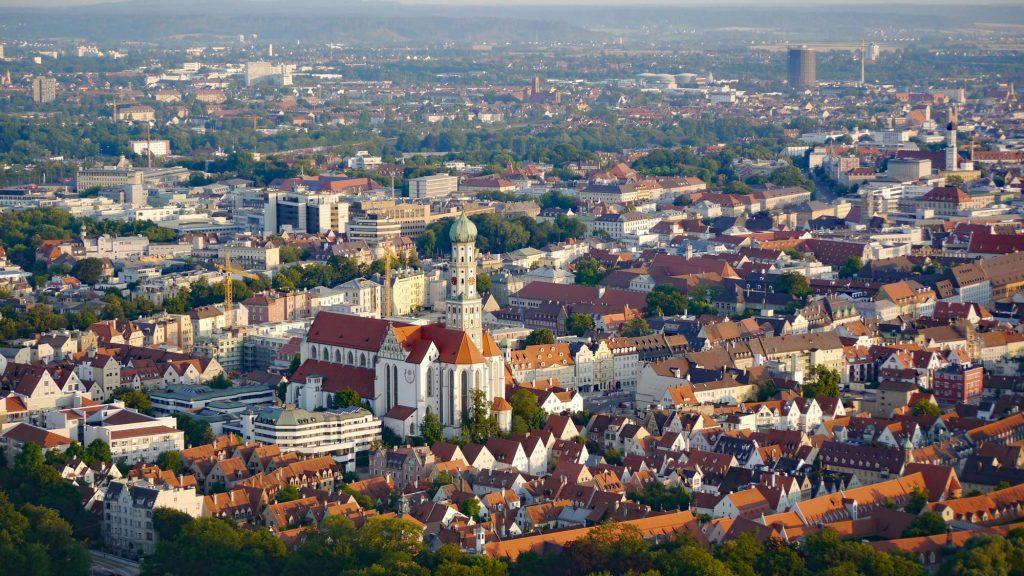 Stadt Augsburg, Luftaufnahme