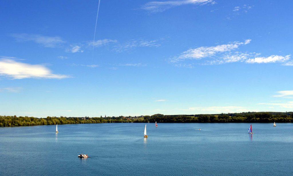 Zülpicher See in der Nähe von Euskirchen