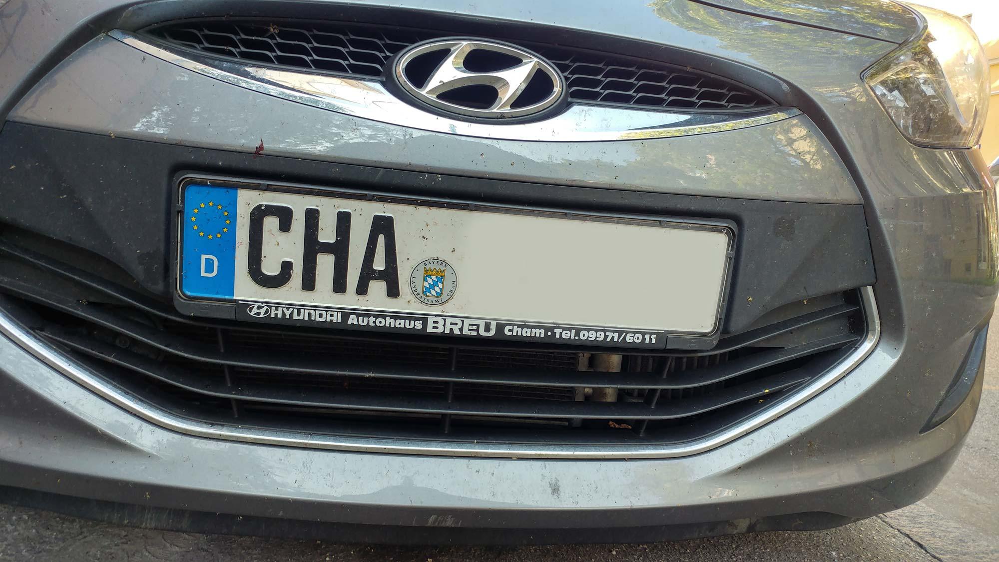 Cha Kennzeichen