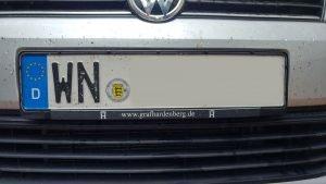 Kennzeichen WN an einem Auto
