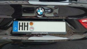 Auto mit dem Kennzeichen HH
