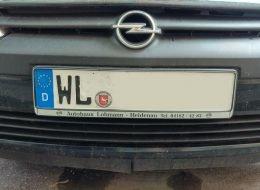 Auto mit dem Kennzeichen WL