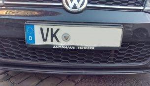 Auto mit dem Kennzeichen VK