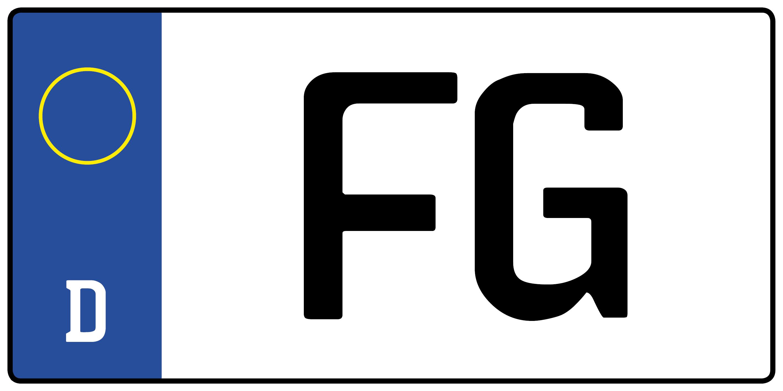 Kennzeichen Fg