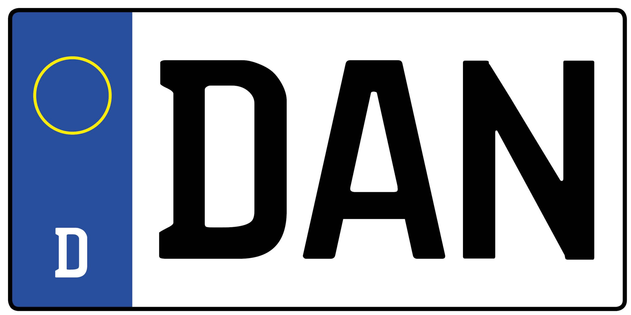 Autokennzeichen Dan