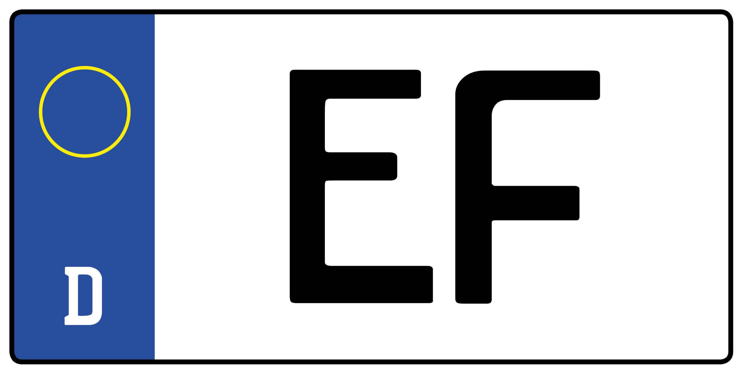 Ef Kennzeichen