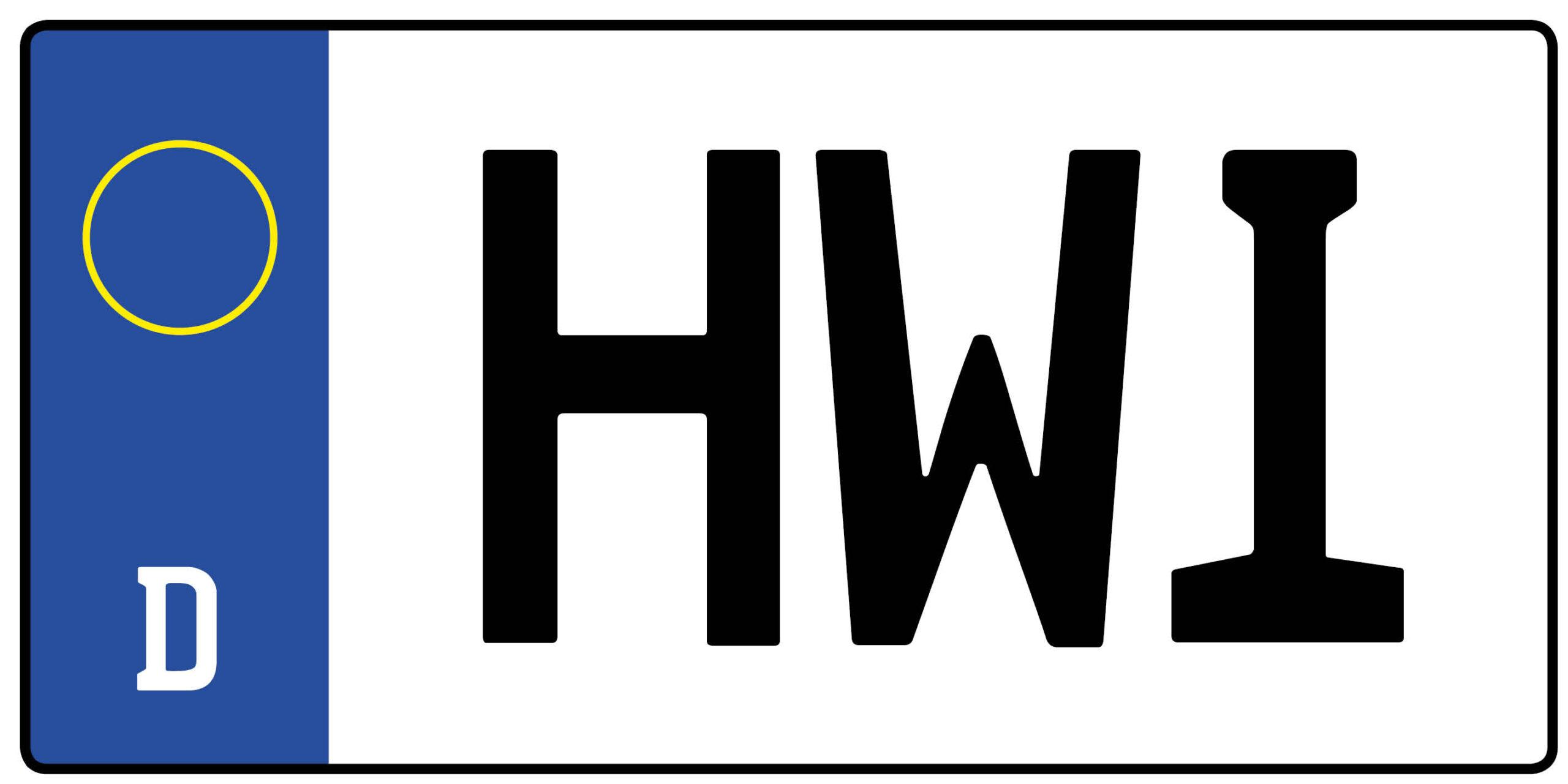 Kfz Kennzeichen Hwi