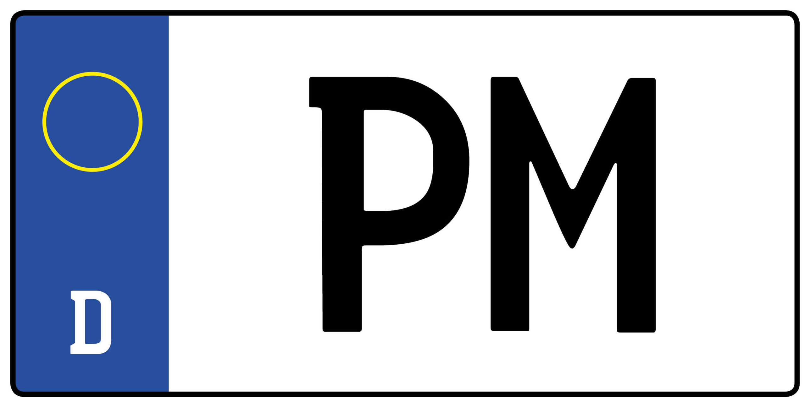 Wunschkennzeichen Pm